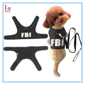 Summer Protected Vest Style Fbi Pet Pulling Back Suits Dog Harness with Leash pictures & photos