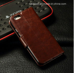 High Quality Luxury Flip PU Leather Case for iPhone 5/Se Case iPhone 6/6s Mobile Phone Cover pictures & photos