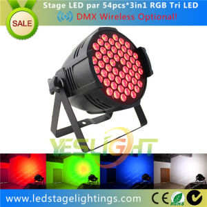 Popular LED Stage Lighting 54*3W RGB 3in1 Epistar LED PAR Lighting pictures & photos