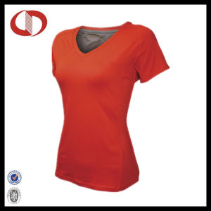 Three Colors Best Sale Fitness V Neck Shirts for Women pictures & photos