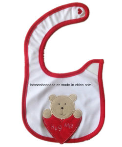 Promotional Cotton Cartoon Printing Baby Bib pictures & photos