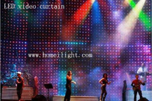 LED Video Vision Curtain Cloth Backdrop pictures & photos