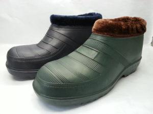OEM EVA Rubber PVC Snow Rain Boots with Fur (21zx1007) pictures & photos