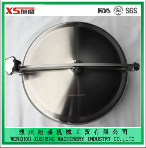 AISI316L 400mm Pressless Round Manhole Cover with Side Swing Opening pictures & photos