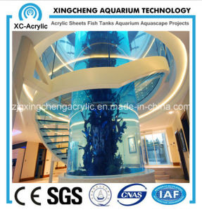 Shopping Malls and Large Cylindrical Aquarium pictures & photos
