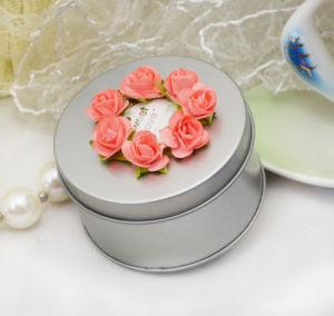 Wedding Round Tin Box Silver (FV-050802) pictures & photos