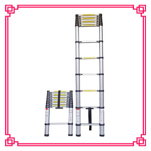 Telescoping Step Ladder with Material Aluminum and Plastic pictures & photos