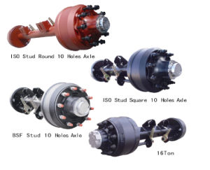 Bsf Studs English Type Axle for Trailer with 10 Holes pictures & photos
