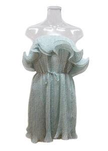 Spaghetti Strap Sky Blue Evening Dresses (EF D8923)