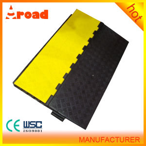 Ce Passed 5 Channel Floor Rubber Cable Protector, Cable Ramp pictures & photos