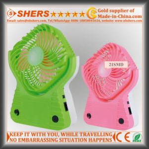 Rechargeable Fan with 21 SMD LED Reading Light, USB Outlet pictures & photos
