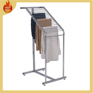 Supermarket Steel Heavy Duty Garment Hanging Clothes Rack pictures & photos