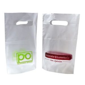 Stand up HDPE Die Cut Carrier Plastic Bags for Accessories (FLD-8550) pictures & photos