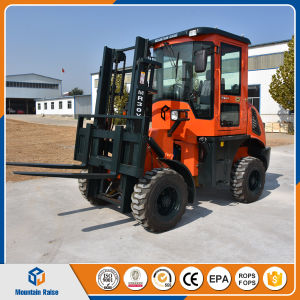 Lifting Equipment Diesel Engine 3.0t Rough Terrain Forklift for Sale pictures & photos