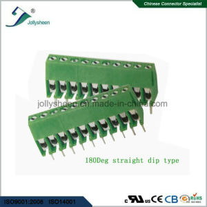 PCB Screw Terminal Blocks Pitch 3.96mm 10p   10A Angle or Straight Type pictures & photos