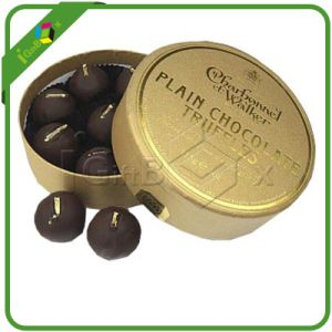 Luxury Round Chocolate Gift Box for Truffle Packaging pictures & photos
