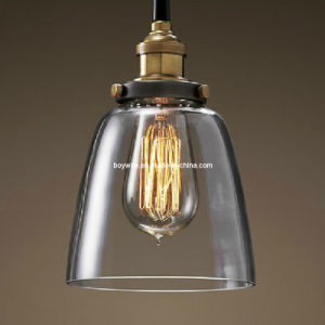 Glass Lampshades with Vintage Edison Bulbs pictures & photos