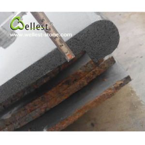 High Quality Honed Finished Grey Basalt Bullnose Swimming Pool Coping pictures & photos