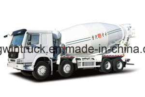 Sinotruk HOWO Brand 8X4 Driving Type Concrete Mixer Truck pictures & photos