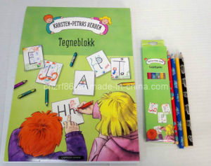 Professional Children Painting Paper Books with Color Pencil pictures & photos