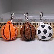 Plastic Ball Keychain for Promotion (hot) pictures & photos