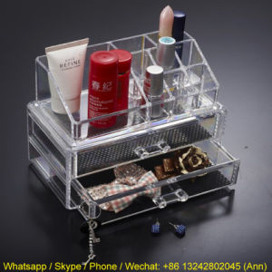 Unique Design Acrylic Plastic Cosmetic Beauty Box Make up Box pictures & photos