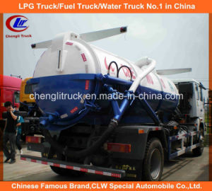 Dongfeng 6 Wheeler 10000L Sewer Cleaning Trucks, 8000L Fecal Suction Trucks pictures & photos