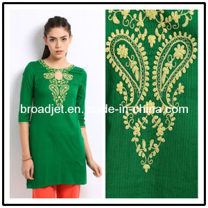 Lady′s Cotton Green Kurti