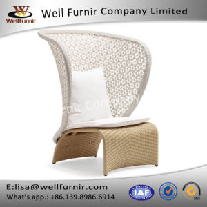 Well Furnir Wicker High Back Single Sofa with Cushions pictures & photos