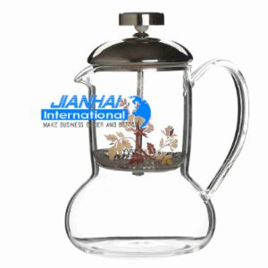OEM Coffee Tea Maker Glass Kettle with Presser and Cup pictures & photos