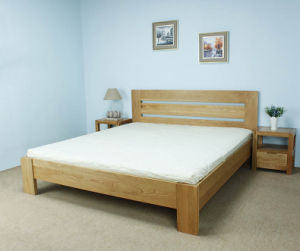 Oak Wood Double Bed Adult Wooden Bed (M-X1059) pictures & photos
