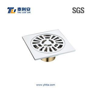 Chrome Plated Brass Square Shower Drain (T1057) pictures & photos