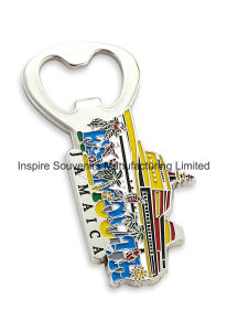 Jamaica Color Infilled Bottle Opener with Magnet (DN1001) pictures & photos