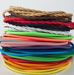 Textile Twisted Lamp Cord, Braided Cable, Power Cord pictures & photos
