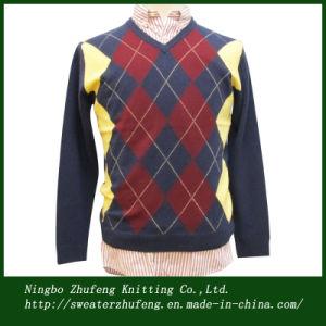 Men′s Argyle Pullover Sweater Nbzf0054