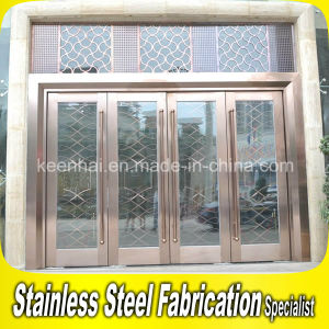 Interior Metal Stainless Steel Security Glass Entry Door pictures & photos