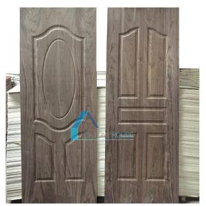 Natural Dark Walnut Wood Veneer Moulded Plywood Door Skin pictures & photos