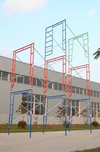 Walk Thru Frame with Ladder for Scaffolding Frame System (FF-621A) pictures & photos