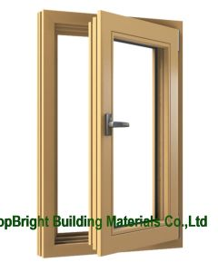 China Sealing Strip Wooden Casement Windows with Handle pictures & photos