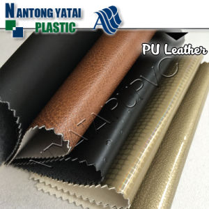 Embossed Surface PU Artificial Leather for Furniture and Sofa