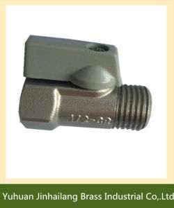 "1/2"" Male Brass Mini Ball Valve Thread with Chrome Plated"