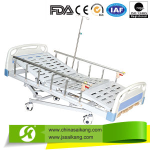 Four Crank 5 Functions Manual Hospital Bed (CE/FDA) pictures & photos