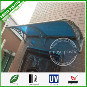 Factory Wholesale Blue Lexan Polycarbonate Sunshade Awnings with Aluminum Brackets pictures & photos