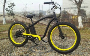2017 750W/500W Giant High Speed E-Bike, 26′′*4.0 Inch Fat Tyre F/R Disc Brake Mountain Electric Bike for Sale pictures & photos