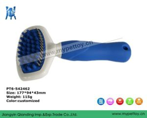 Grooming Tools with Silicon Handle Pet Brush pictures & photos