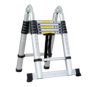 New En131 Standard Aluminium One Time Fold Telescopic Ladder pictures & photos