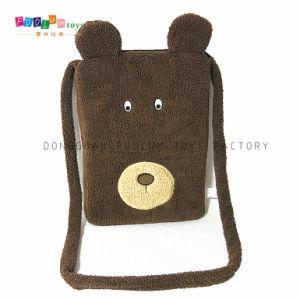 Cute Fashion Plush Bear Face Notebook PC Bag for iPad Bag