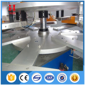 2 Colors 8 Station Round Shape Auto Screen Printing Machine pictures & photos