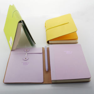 High Quality Hardcover PU Leather Notebook with Pen and Envelope