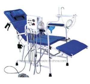china luxury portable dental patient folding chair with turbine